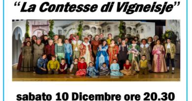 """""""La Contesse di Vigneisje"""" in scena ad Artegna"""