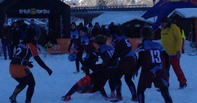 A Tarvisio lo spettacolo dello Snow Rugby