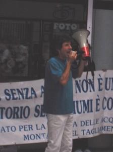 Renato Garibaldi durante una delle manifestazioni da lui promosse negli ultimi anni