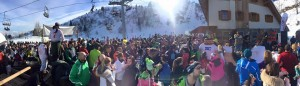 Sciatori presenti al Rifugio Goles sullo Zoncolan (foto da Facebook)