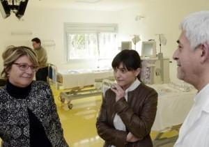 Serracchiani e Telesca con il dottor Amici