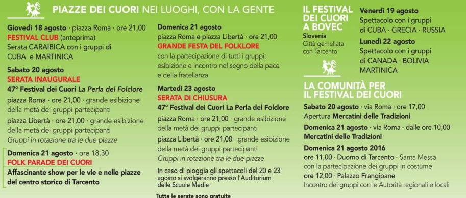 programma festival cuori tarcento