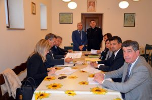 La giunta provinciale con monsignor Zanello