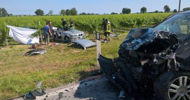 """Tremendo schianto sulla """"Ferrata"""" a Varmo, due morti e quattro feriti"""