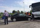 Schianto tra auto, bus e furgoncino a Fagagna