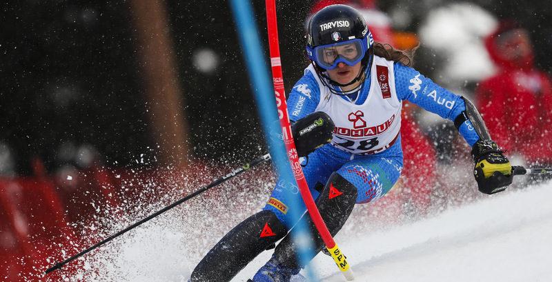 Lara Della Mea fuori nella seconda manche dello slalom ai Mondiali di Are