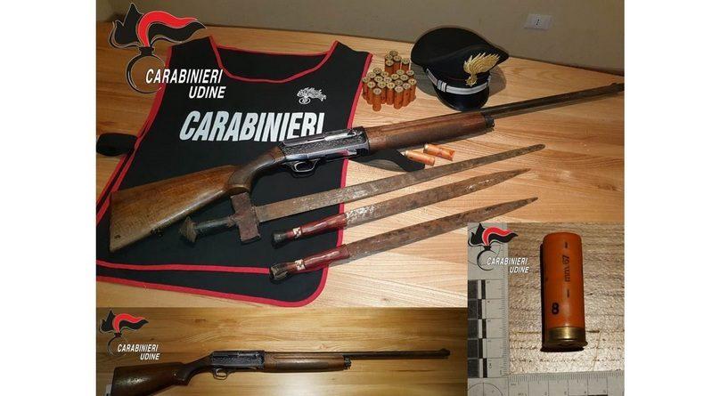 Detenzione illegale di armi e munizioni, nei guai un 50enne del Tarvisiano