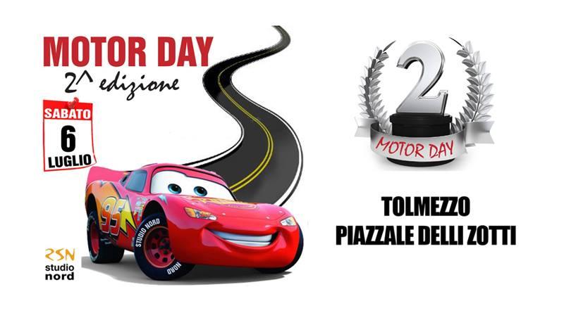 """Sabato 6 luglio a Tolmezzo sarà di nuovo tempo di """"Motor Day"""""""