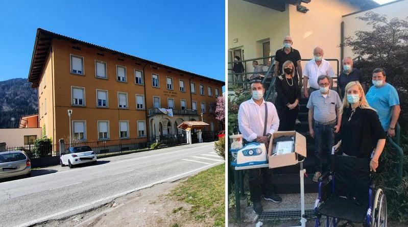 Cavalieri e Maestri del Lavoro donano materiale sanitario alla Casa di Riposo di Paluzza