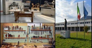 Inaugurato il nuovo laboratorio del legno dell'Isis Fermo Solari di Tolmezzo
