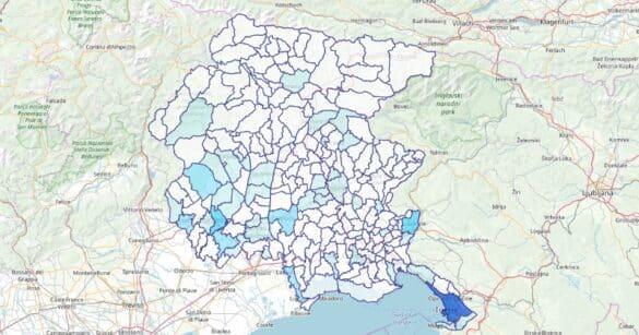 Covid: la mappa del contagio in Carnia, Canal del Ferro, Valcanale, Gemonese e Collinare